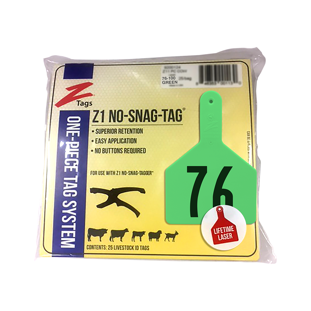 Z Tags Calf Ear Tags PURPLE Numbered #1-25 25 Count Easy Application