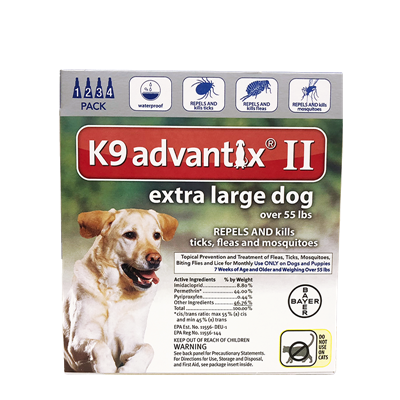 ADVANTIX II XL DOG BLUE OVER 55lb 4pk