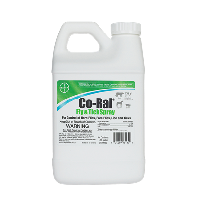 CO-RAL FLY & TICK 1/2 GALLON