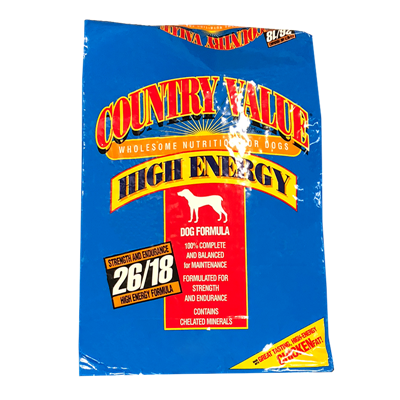 COUNTRY VALUE BLUE HI ENERGY 50lb