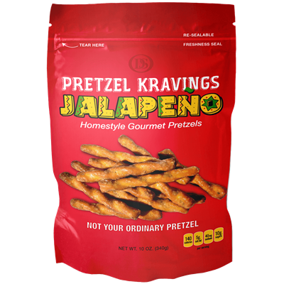 PRETZEL KRAVINGS JALAPENO 10oz 12ct