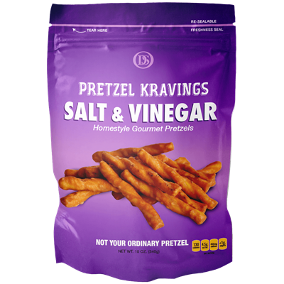 PRETZEL KRAVINGS SALT/VINEGAR 10oz 12ct