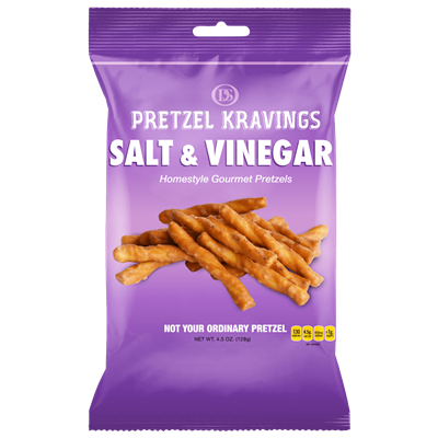 PRETZEL KRAVINGS SALT/VINEGAR 4.5oz 6ct
