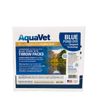 AQUAVET BLUE DYE WS THROW PACK 4x8oz