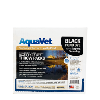 AQUAVET BLACK DYE WS THROW PACK 4x8oz