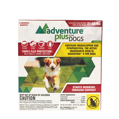 ADVENTURE PLUS FOR DOGS 21-55lbs 4pk