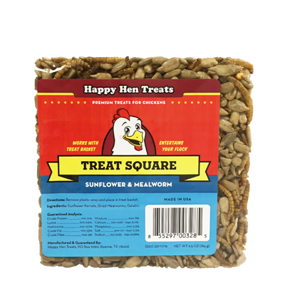 HAPPY HEN TREAT SQUARE SUNFLOWER 6.5oz