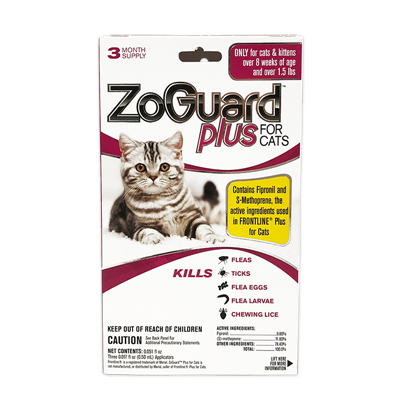 ZOGUARD PLUS FOR CATS 1.5 lbs AND UP 3pk