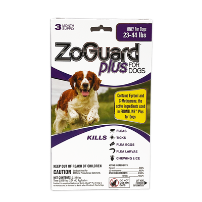 ZOGUARD PLUS FOR DOGS 23-44 lbs 3pk