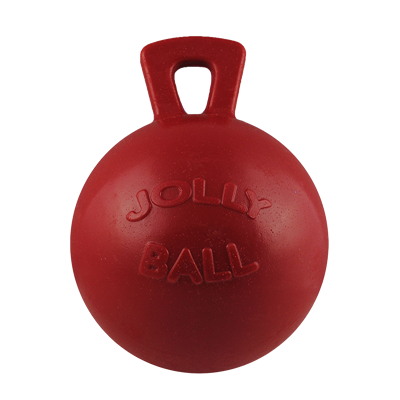 TUG-N-TOSS JOLLY BALL 6in RED