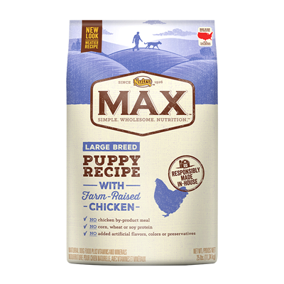 MAX PUPPY LG BREED CHICKEN 25lb