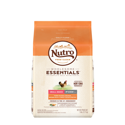 NUTRO SM BREED SENIOR CHKN/RICE/SWP 5lb