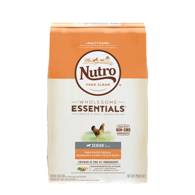 NUTRO SENIOR CHICKEN/RICE/SW POT 15lb
