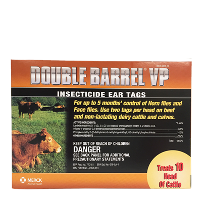 DOUBLE BARREL INSECTICIDE TAGS 20ct