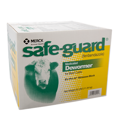 SAFEGUARD WORMER BLOCK 25 LB