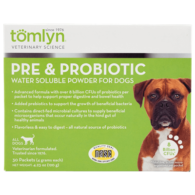 PRE AND PROBIOTIC POWDER FOR DOGS 30pk
