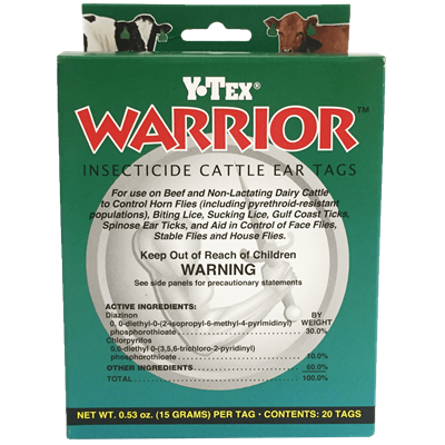 WARRIOR INSECTICIDE TAG 20ct