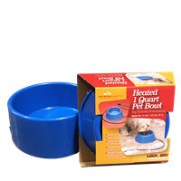 HEATED PET BOWL PLASTIC 1qt